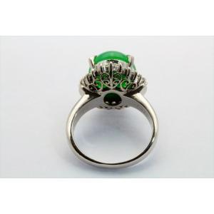 天然本翡翠 ダイヤモンドリング PT900 新品 レディース|megumi-1|04