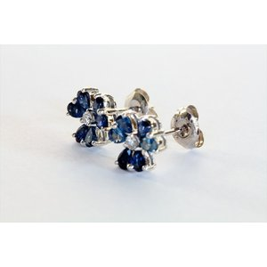 ブルーサファイア ダイヤモンドピアス K18WG|megumi-1|05
