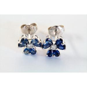 ブルーサファイア ダイヤモンドピアス K18WG|megumi-1|06