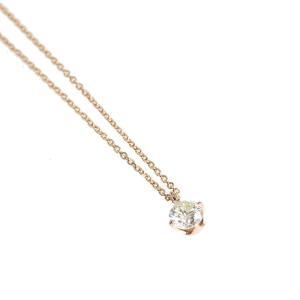GALLERY megumi  お買得 K18PG シンプルデザイン 一粒ダイヤモンドネックレス 0.25ct|megumi-1