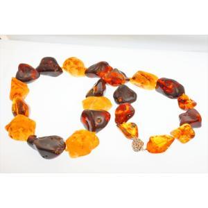 超大粒 天然 琥珀 マルチカラー825ctロングネックレス SV925 新品 レディース|megumi-1|02