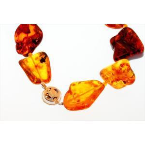 超大粒 天然琥珀マルチカラー825ctロングネックレス SV925|megumi-1|06