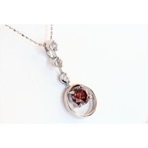 ブラウンダイヤモンドプチネックレス K18WG 新品 レディース|megumi-1|03