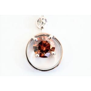 ブラウンダイヤモンドプチネックレス K18WG 新品 レディース|megumi-1|06