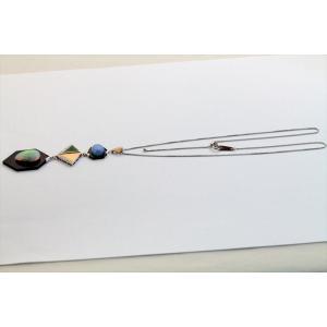 オパール オニキス 翡翠 ダイヤモンドネックレスPT850/K18 新品 レディース megumi-1 03