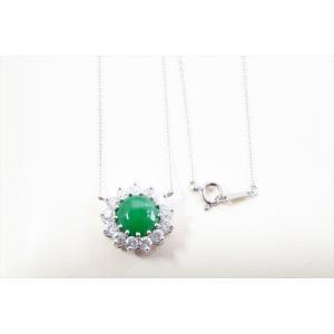 本翡翠 ダイヤモンドネックレス K18WG|megumi-1|05