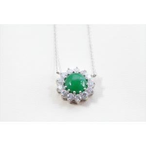本翡翠 ダイヤモンドネックレス K18WG|megumi-1|06