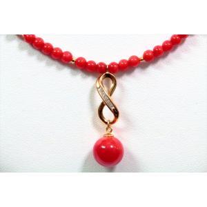 天然赤珊瑚 ネックレス K18|megumi-1|02