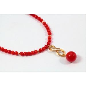 天然赤珊瑚 ネックレス K18|megumi-1|04
