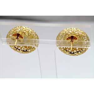 南洋白蝶パール11.5mm珠 透かしデザインピアスK18|megumi-1|05