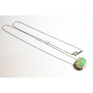 オパール ダイヤモンドネックレス PT900/PT850|megumi-1|03