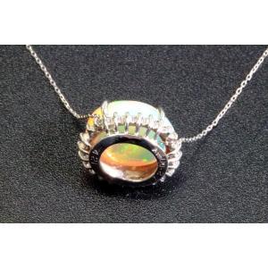 オパール ダイヤモンドネックレス PT900/PT850|megumi-1|04