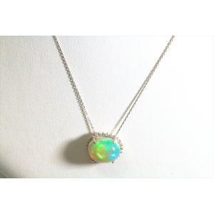 オパール ダイヤモンドネックレス PT900/PT850|megumi-1|05