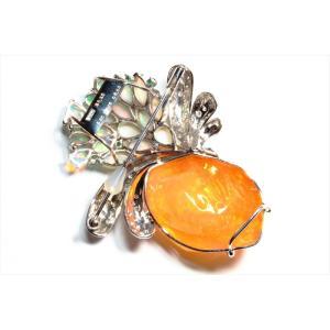 メキシコオパール オパール ダイヤ エメラルドペンダント&ブローチPT900|megumi-1|04