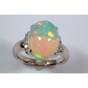 オパールダイヤモンドリングPT900|megumi-1|02