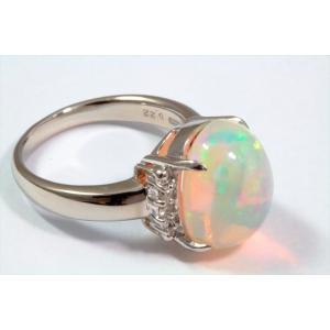オパールダイヤモンドリングPT900|megumi-1|05