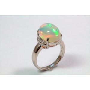 オパールダイヤモンドリングPT900|megumi-1|06