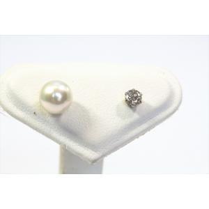ダイヤモンド パールピアス2way PT900|megumi-1|02