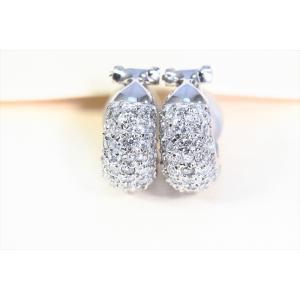ダイヤモンドフープピアスK18WG|megumi-1|03