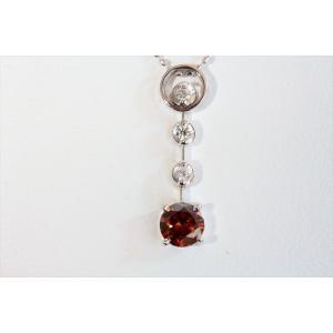 ブラウンダイヤモンド ネックレス K18WG 新品 レディース|megumi-1