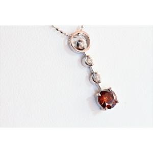 ブラウンダイヤモンド ネックレス K18WG 新品 レディース|megumi-1|06