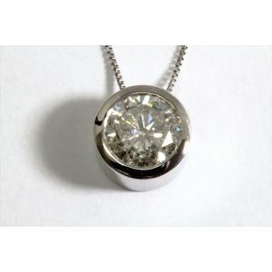 一粒ダイヤモンド ペンダントネックレス PT900/PT850|megumi-1