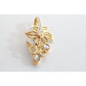 ダイヤモンド リーフモチーフペンダントトップ K18 新品 レディース|megumi-1|03