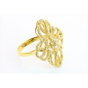 上質ダイヤモンド1.00ct透かしフラワーモチーフリング K18|megumi-1|03