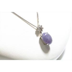 ラベンダー翡翠 ダイヤモンドネックレス K18WG|megumi-1|05