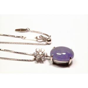 ラベンダー翡翠 ダイヤモンドネックレス K18WG|megumi-1|06