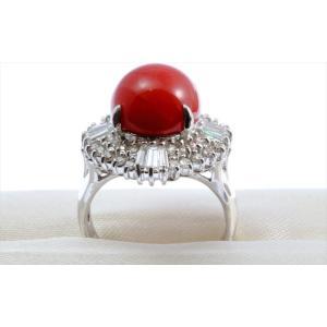 天然赤珊瑚 ダイヤモンドリング PT900|megumi-1|08