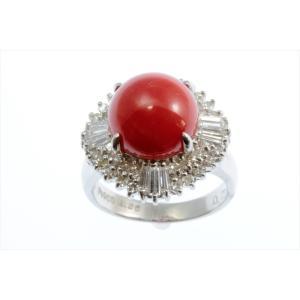 天然赤珊瑚 ダイヤモンドリング PT900|megumi-1|06