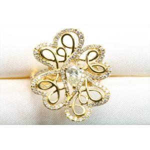 K18 フラワーオリジナルデザイン ダイヤモンドリング|megumi-1|10