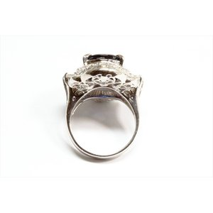 大粒ブルーサファイア ダイヤモンドリングpt900|megumi-1|04