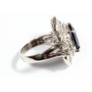 大粒ブルーサファイア ダイヤモンドリングpt900|megumi-1|05