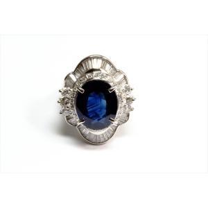 大粒ブルーサファイア ダイヤモンドリングpt900|megumi-1|06