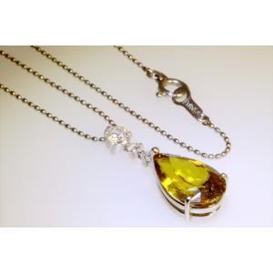 天然スフェーン ダイヤモンドネックレス PT850|megumi-1|02