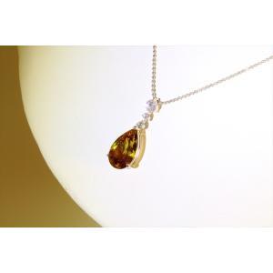 天然スフェーン ダイヤモンドネックレス PT850|megumi-1|03