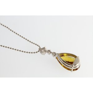 天然スフェーン ダイヤモンドネックレス PT850|megumi-1|04