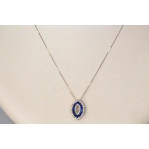 ブルーサファイア ダイヤモンドペンダント K18WG 新品 レディース|megumi-1|05