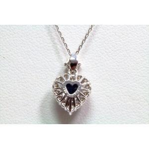 天然ロイヤルブルーサファイア ダイヤモンドネックレス K18WG 宝石鑑別書付 megumi-1 04