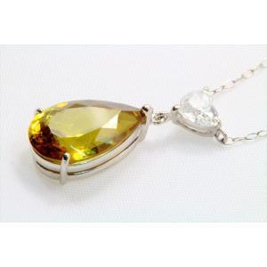 天然スフェーン ダイヤモンドネックレス PT900/ PT850|megumi-1|02