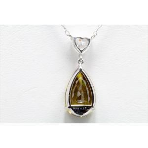 天然スフェーン ダイヤモンドネックレス PT900/ PT850|megumi-1|04