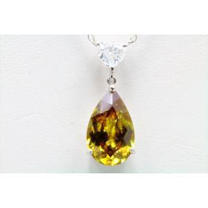 天然スフェーン ダイヤモンドネックレス PT900/ PT850|megumi-1|06