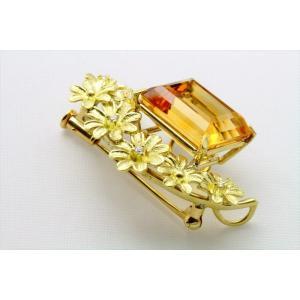 天然シトリン ダイヤモンド ブローチ&ペンダント K18|megumi-1|03