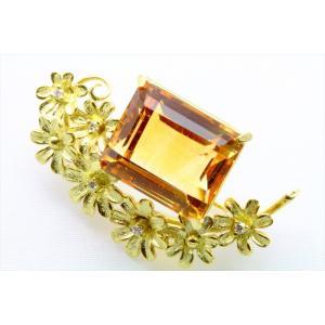 天然シトリン ダイヤモンド ブローチ&ペンダント K18|megumi-1|05