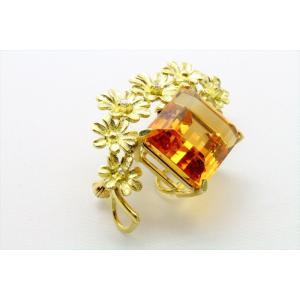 天然シトリン ダイヤモンド ブローチ&ペンダント K18|megumi-1|06