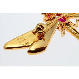 ルビー&ダイヤモンド トンボモチーフブローチ&ペンダントK18|megumi-1|05
