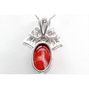 天然血赤珊瑚 ダイヤモンドネックレス PT900|megumi-1|04