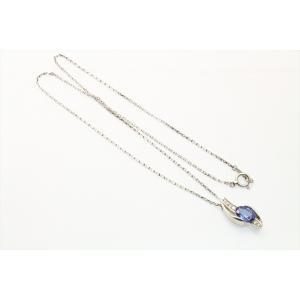 天然 タンザナイト  ダイヤモンド ネックレス PT900/PT850 新品 レディース megumi-1 03